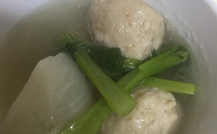 鳥一の肉団子とかぶの塩麹スープ