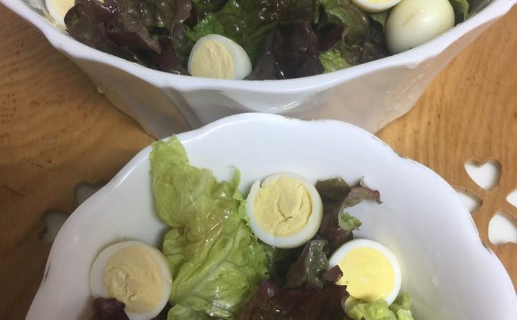燻製うずら卵&燻製カマンベールチーズの鎌倉野菜サラダ