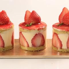 フレジェ~春を感じるイチゴでフランス版ショートケーキを