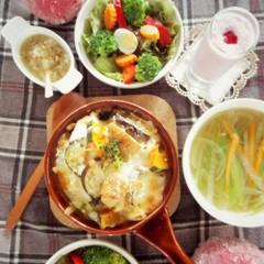 新発見♪とろ~り♪手作りソースのマカロニグラタン♡冬野菜盛り沢山♪献立