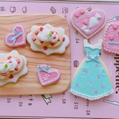 ストロベリーパンケーキ作りでおうちカフェ♪クッキー