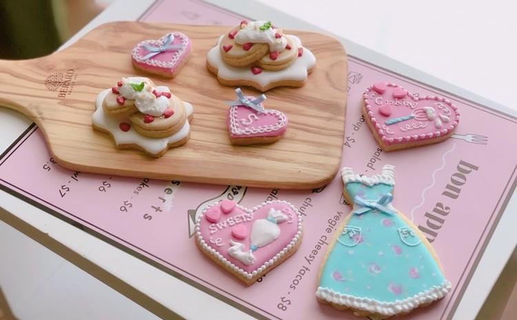 ストロベリーパンケーキ作りで春のおうちカフェ♪アイシングクッキー