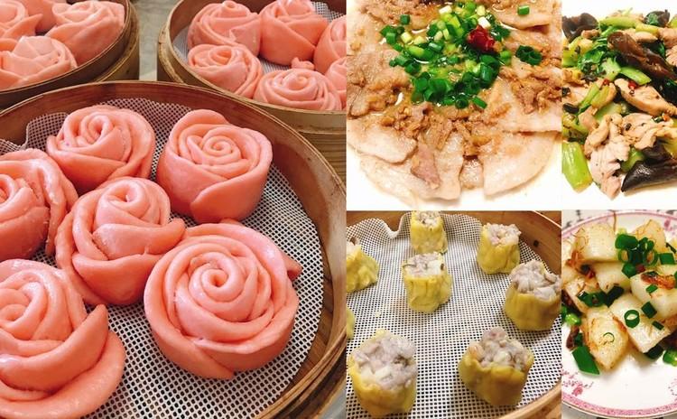 香港シュウマイとバラ饅頭&お酒とご飯がすすむお惣菜