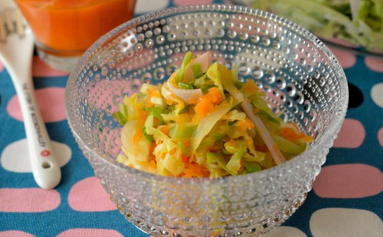 春キャベツと新玉葱&ロースハムのサラダ