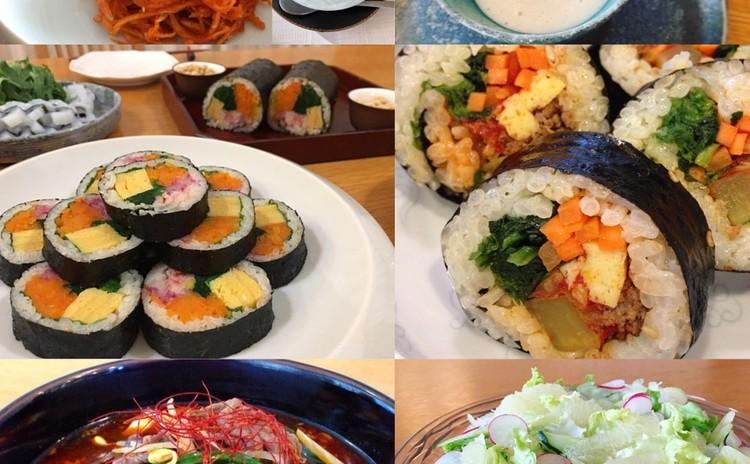 人気のキンパと旬の食材を使った韓国料理をお届け致します。