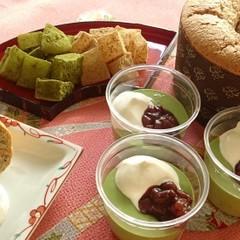 🌸和スイーツ特集🌸黒ゴマきなこシフォン・抹茶ババロワ・わらび餅2種