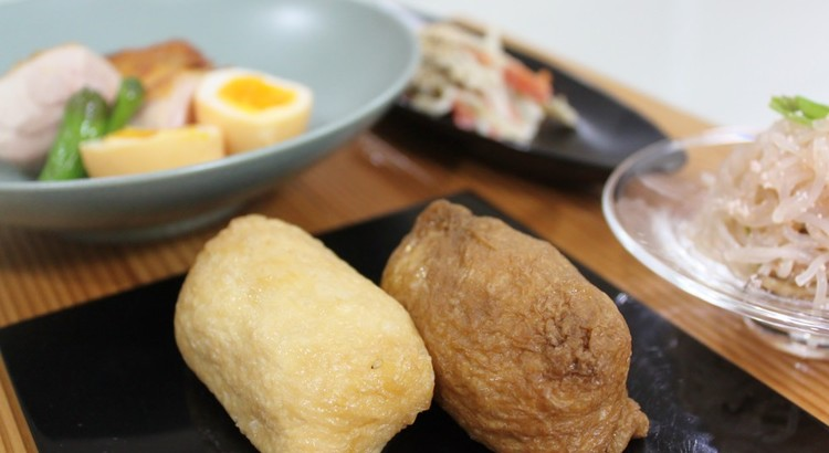 春うらら♪白黒いなり寿司&超簡単!鶏の瞬間燻製&春の常備菜2品
