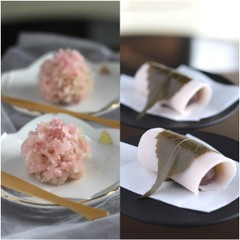 3月/「桜餅」もっちり焼き皮と「山桜花」ふわっと金団あん