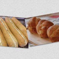 アールグレイのミルクフランスとパルメザンソフト