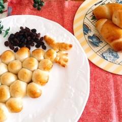 ホシノ丹沢酵母で作る葡萄の形の葡萄パン・ロールパン