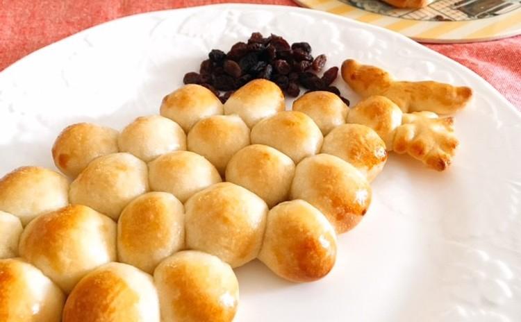 葡萄の形の葡萄パン