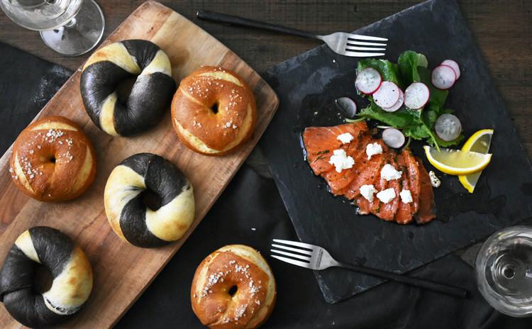 国産レモン酵母パン!プレッツェルベーグル&マーブルベーグル、酵母マリネ