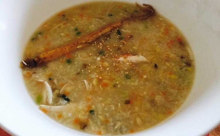 べっスク(백숙)とカクデギ깍두기(韓国料理)(お土産サンゲタん1kg、カクデギ1、5kg)緑豆お粥녹두죽