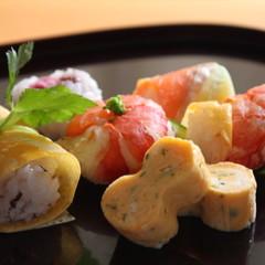 ザ・手綱寿司 桜海老のかき揚げとあさりの茶碗蒸し