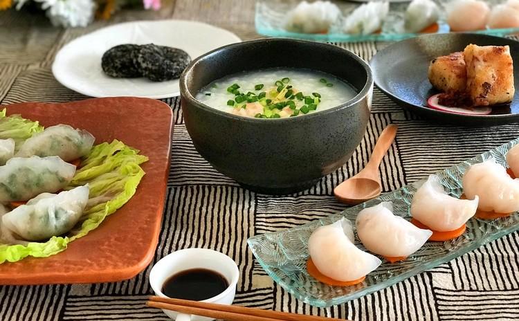 エビ餃子から「香港点心」5品 とパイナップルケーキの贅沢コース