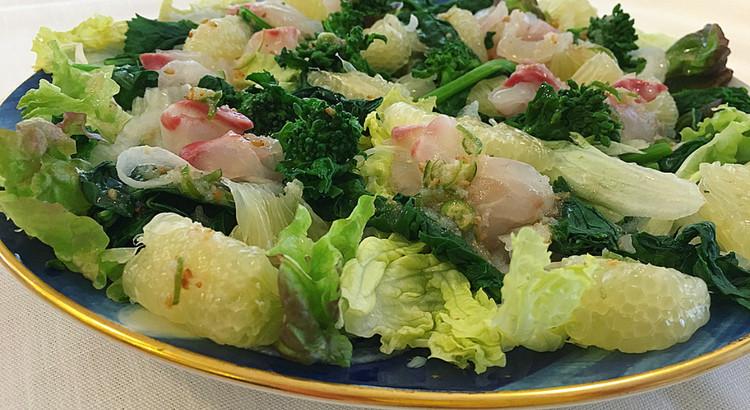 鯛と文旦の春サラダ