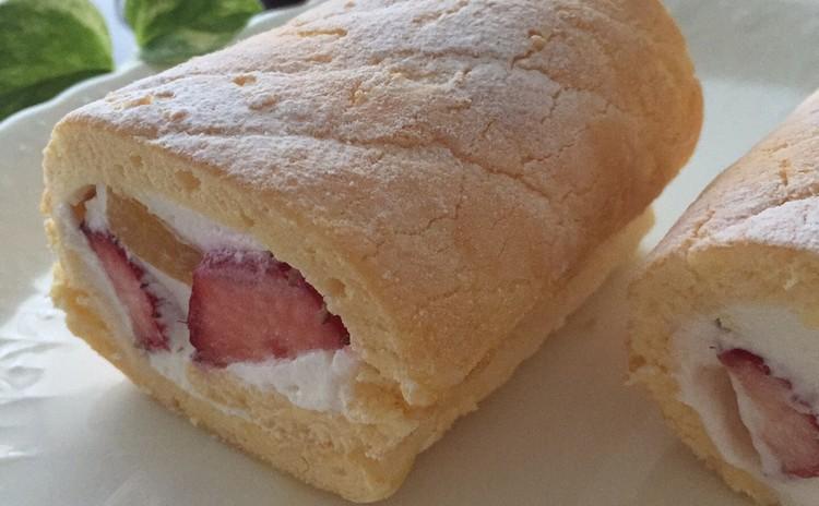 こんなに簡単!!ビスキュイの生地でつくる!フルーツロールケーキ