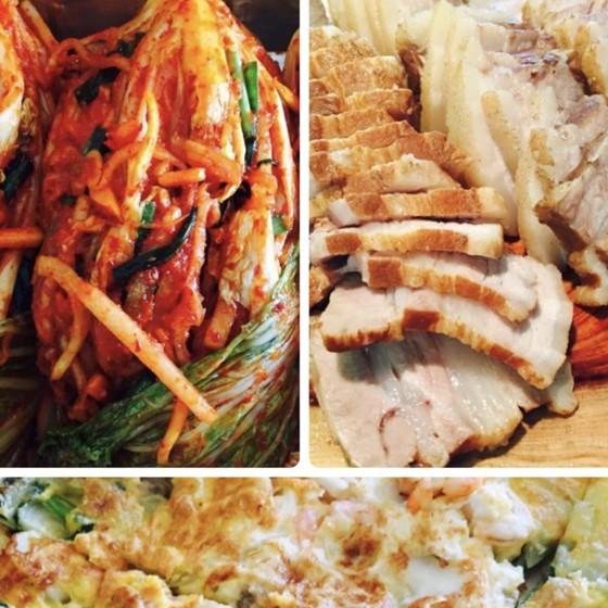 手作りキムチ3kgとボッサム(韓国料理、白菜がすかすかするので3月まで