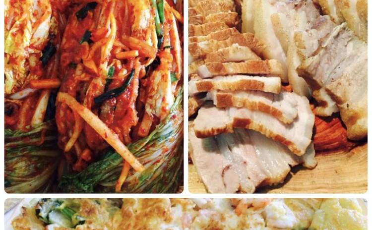 白菜キムチ배추김치(お料理).海鮮チジミ、雑穀ご飯🌸9月から^^