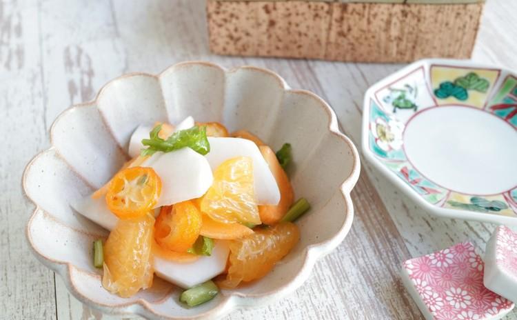 カブと柑橘のサラダ