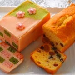 お花見スイーツ~2種のおしゃれ和風パウンドケーキ~