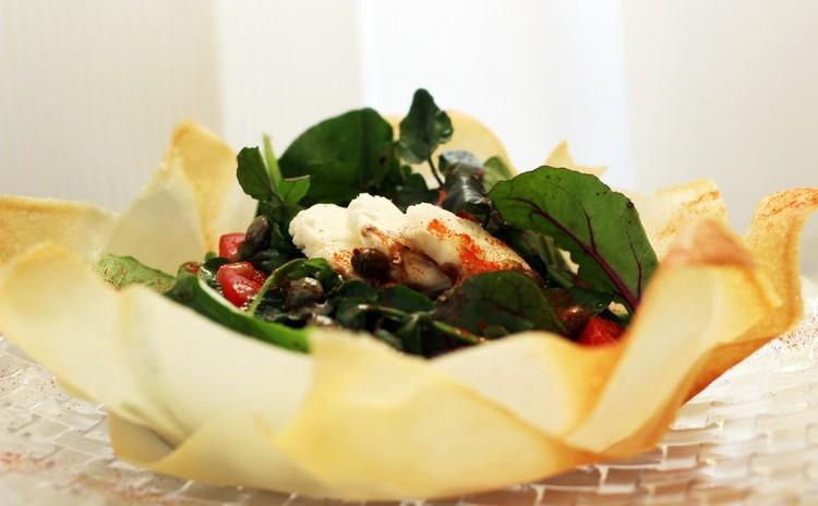 ホットソースで食べるカリフラワーのサラダ~食べる器と共に