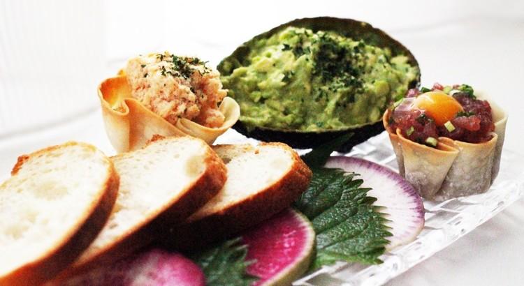 3種のディップ&バケット・お野菜~食べる器と共に