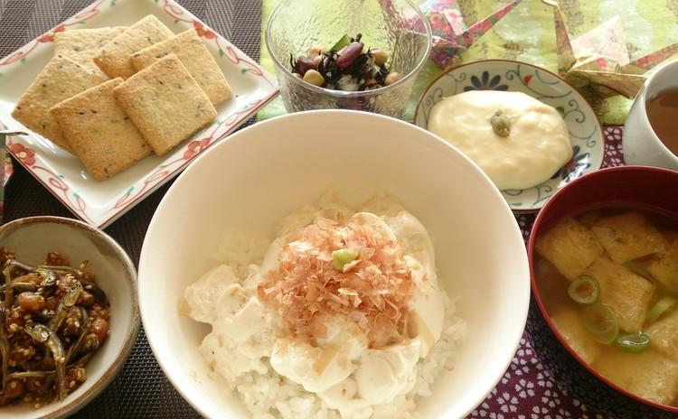 ●もっと豆料理!●手作りなめらか豆腐丼・とろ~りチーズ豆腐他