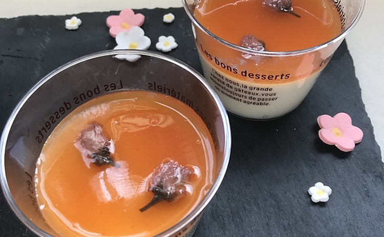 抹茶ガトーショコラと桜のみるくぷりん