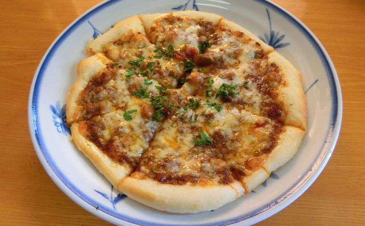 みんな大好き キーマカレーピザ