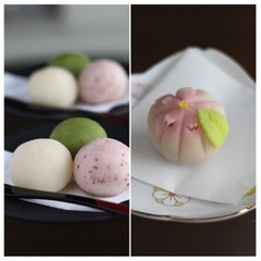 3月/「お花見団子」と「sakura」練切り製