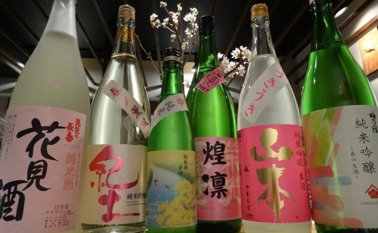 春の日本酒飲み比べ