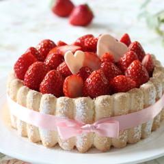 春のお祝いケーキを作りましょう!かわいいイチゴムースのシャルロット♪