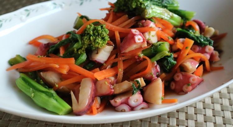 菜の花とエスニックサラダ