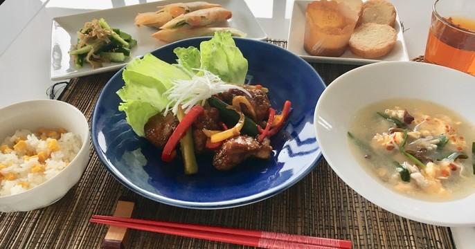 【スイーツorお土産付】油淋鶏 サンラータン パインケーキ中華全6品
