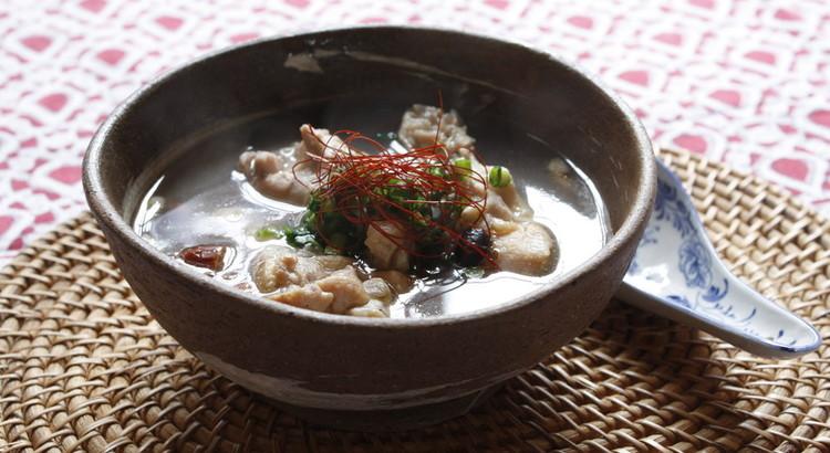 鶏手羽の参鶏湯風スープ