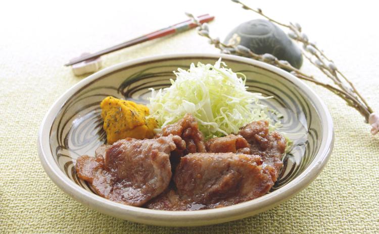豚肉の生姜焼き&マッシュドパンプキン