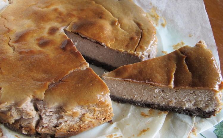 豚ヒレ肉のパン包み、ジャガイモのスフォリアテッレ、栗のチーズケーキ