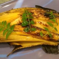 焼き竹の子、蕨、ふきのとうの春を味わう