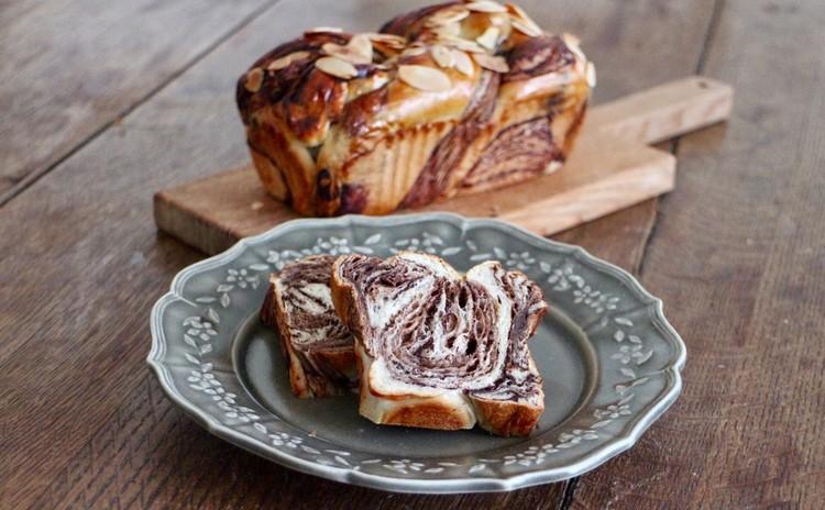 *天然酵母で作るパン作り*チョコシートも作る*marble bread*折り込みをマスターしましょう!!2本焼き(ランチ付き)