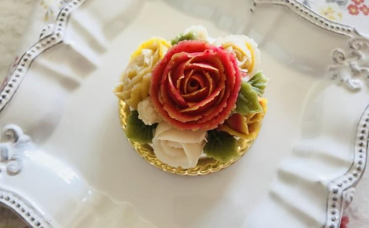 アンプラワーケーキ(韓国料理)100%米粉使用(持ち帰りケーキあり)앙플라워케잌.설기떡ソルギトック、もやしビビンバ콩나물비빔밥
