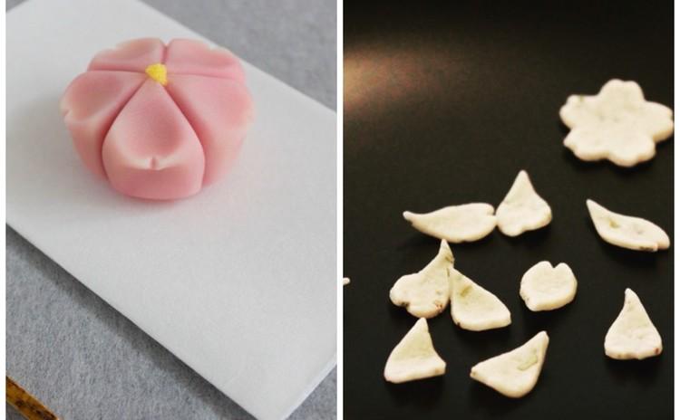4月桜尽くしレッスン♡「桜の練り切り」「ローズマリーと和三盆糖の雲平」