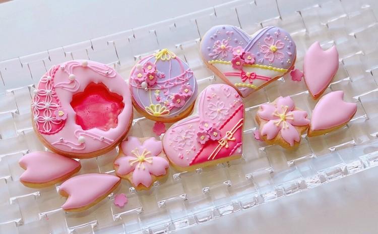 桜ピンクで春満開♪アイシングクッキー