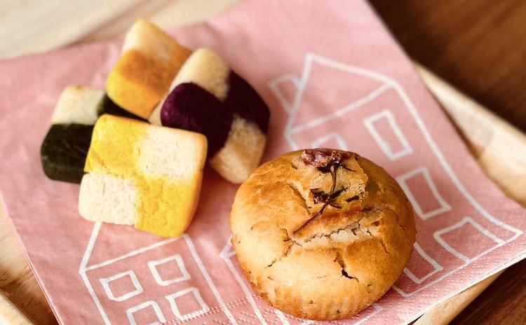グルテンフリー!春を楽しむ桜マフィンと市松模様のソフトクッキー♪