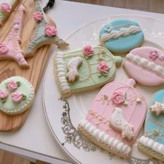 テキスト付アイシングクッキー基礎(パイピング特訓&時短クッキーレシピ)