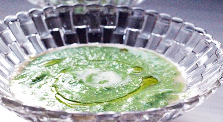根菜のフラン 春のお豆のエマルジョン 二層仕立て