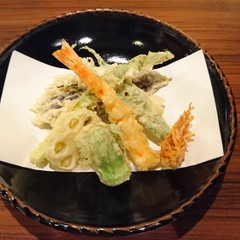 実習で学ぶ車海老と旬野菜の天ぷら