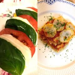 カラフル野菜のフジッリ☆魚のアギョッタ☆カプレーゼ☆ドルチェ
