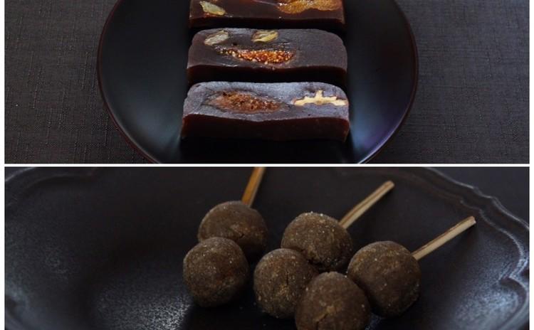 5月の和菓子レッスン「ドライフルーツラム羊羹」と「丹波黒豆すはま」♪