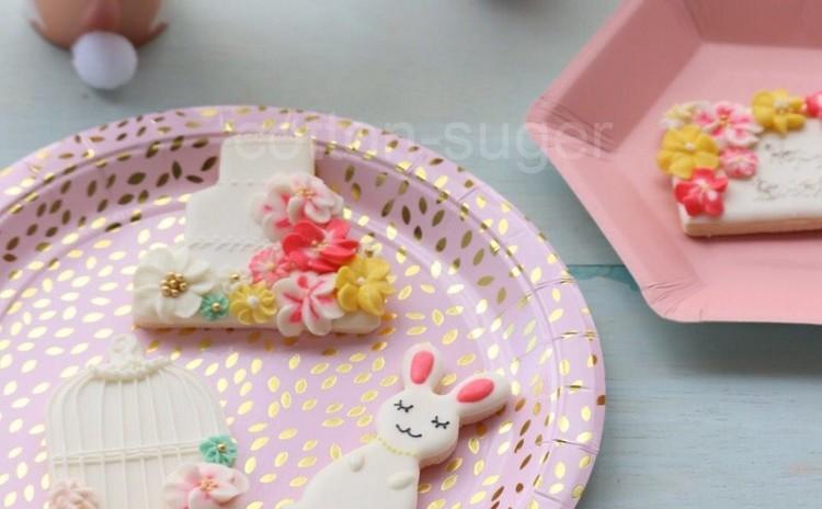 イースターデザイン天然色素アイシングクッキー